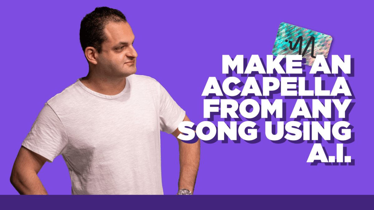 How to Make an Acapella from Any Song Using A.I.