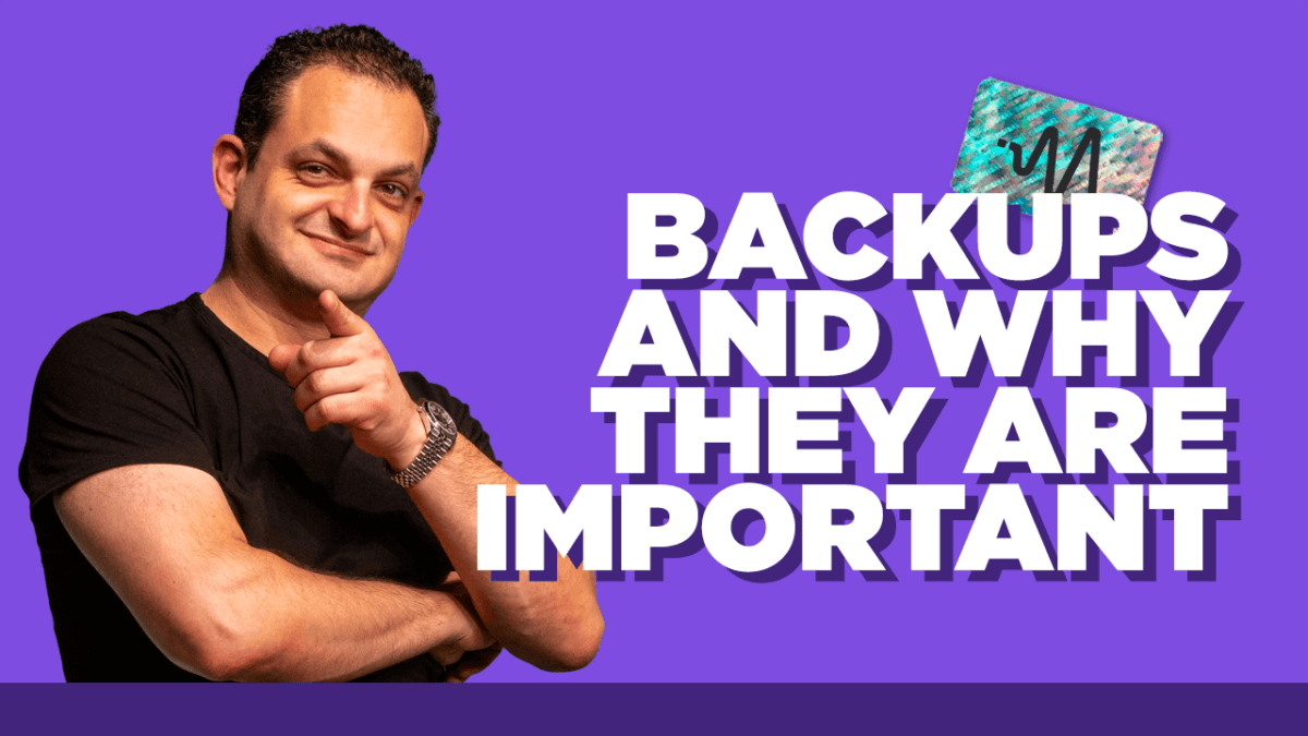 Backups and Why They Are Important
